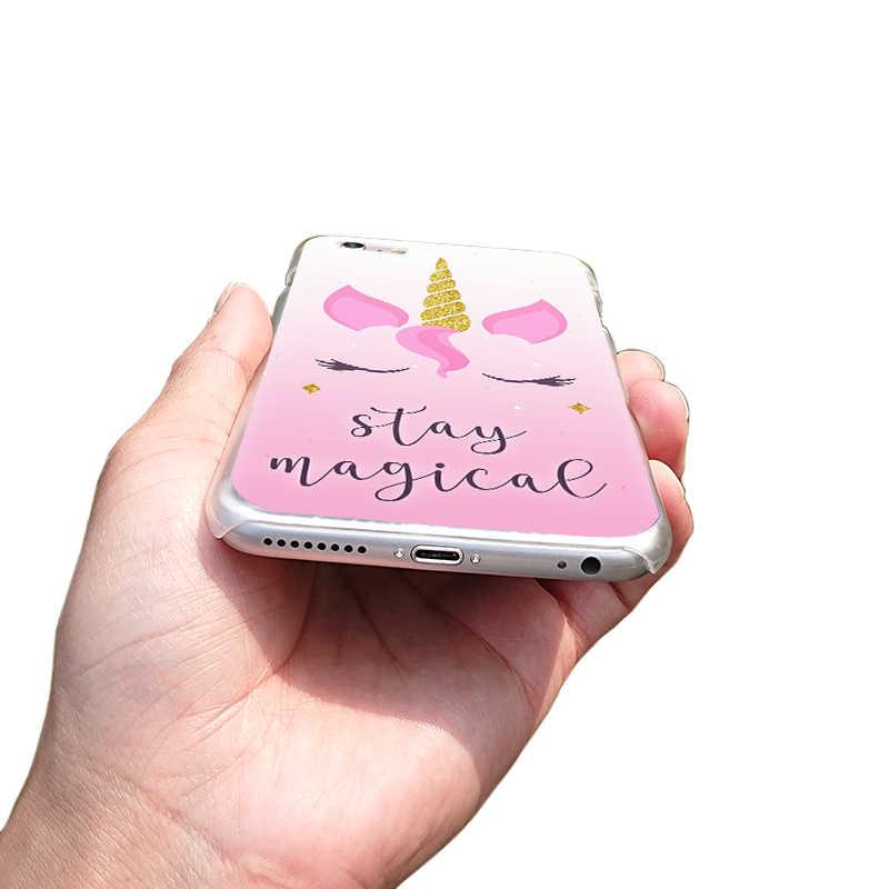 Чехол для телефона для iphone XS Max XR X XS 8 8 плюс мультфильм милый пони, единорог прозрачный тяжелых случаях ПК для 6splus 7 7 плюс 5 se 4 крышки