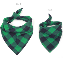 New Winter Dog Bandanas Cotton Plaid Flannel Washable Pet Scarf Tie On Cat Small Middle Large Accessories