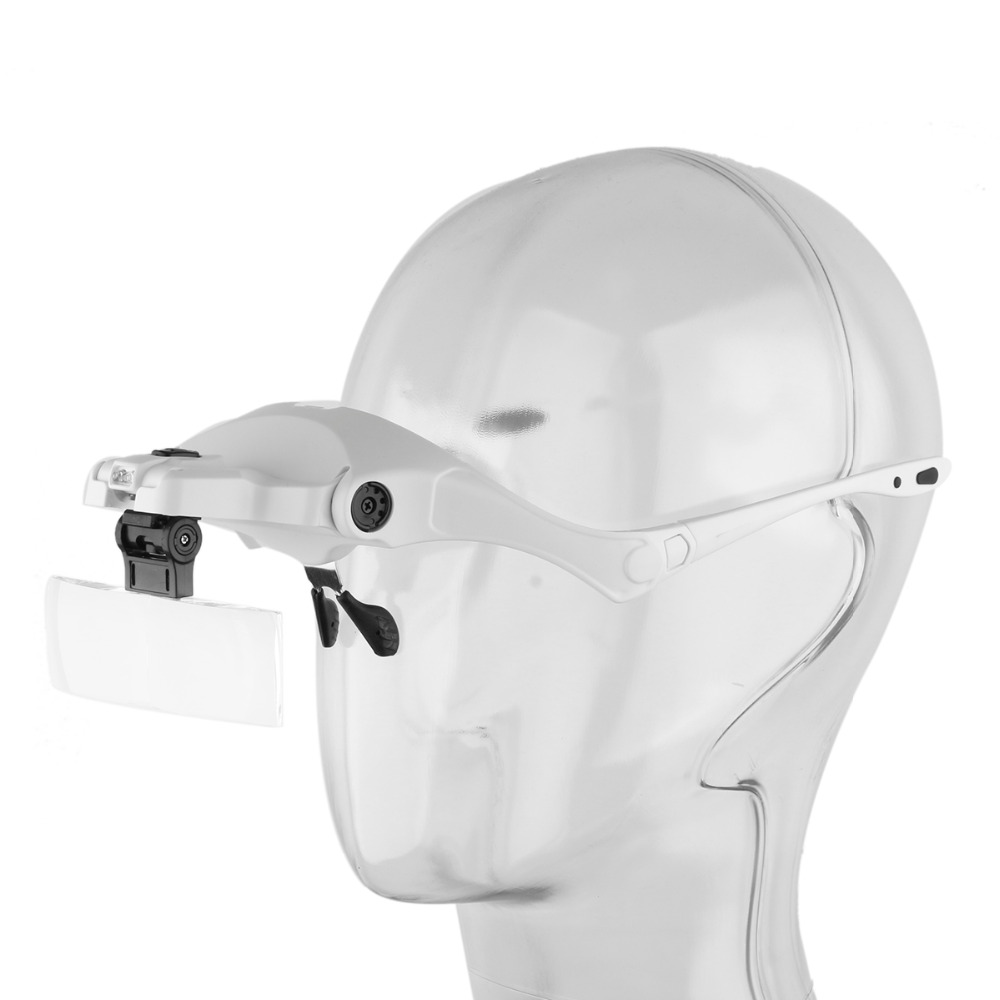 1X 1 5X 2X 2 5X 3 5X Adjustable Loupe Headband Magnifying Glass LED Light lamp