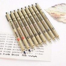 Sakura ручка Pigma micron Neelde мягкая кисть Ручка для рисования Лот 005 01 02 03 04 05 08 1,0 кисть художественные маркеры