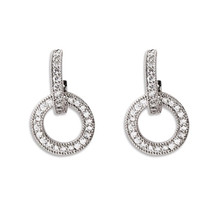 925 sterling silver Stud earrings Geometry of the circle Set auger Womens fashion jewelry wholesale