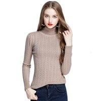 Alta Qualidade Magro Mulheres Camisola de Gola Alta Pullover Inverno da Camisola Tops Outono puxar Fêmea Venda Quente do estilo Coreano Camisola Elástico