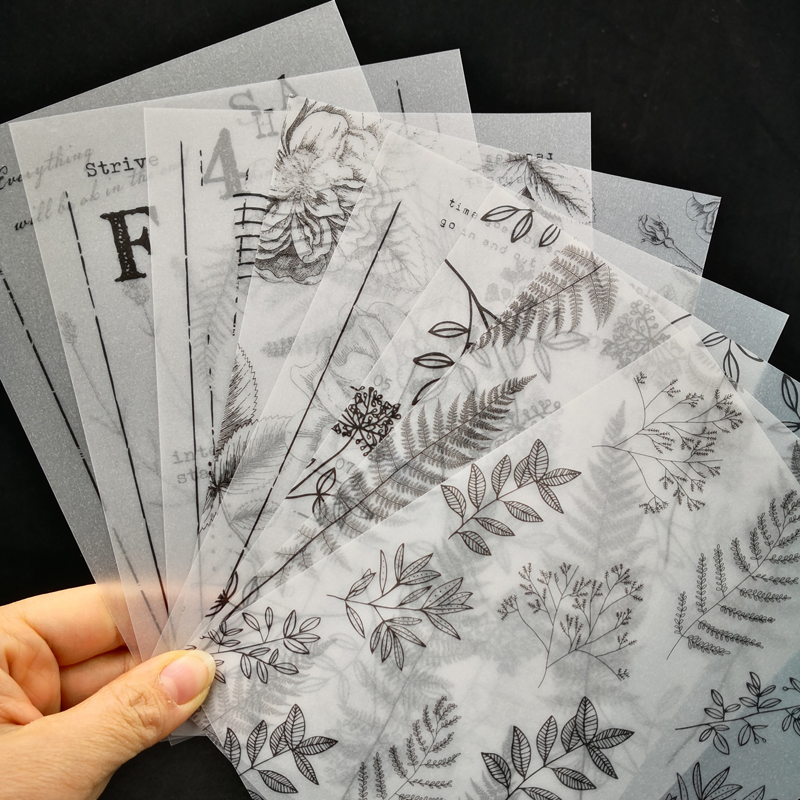 ZFPARTY  Leaves Background Vellum Stickers For Scrapbooking DIY Projects/Photo Album/Card Making Crafts