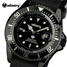 INFANTRY Men Quartz-watch Durable Nylon Strap Sports Watches Luminous Wristwatch for Male 2016 Luxury Brand Relogio Masculino