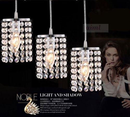 Modern Crystal Chandelier Fixture Lighting Bedroom Pendant Lamp Lights 90-220v Crystal lamp стоимость