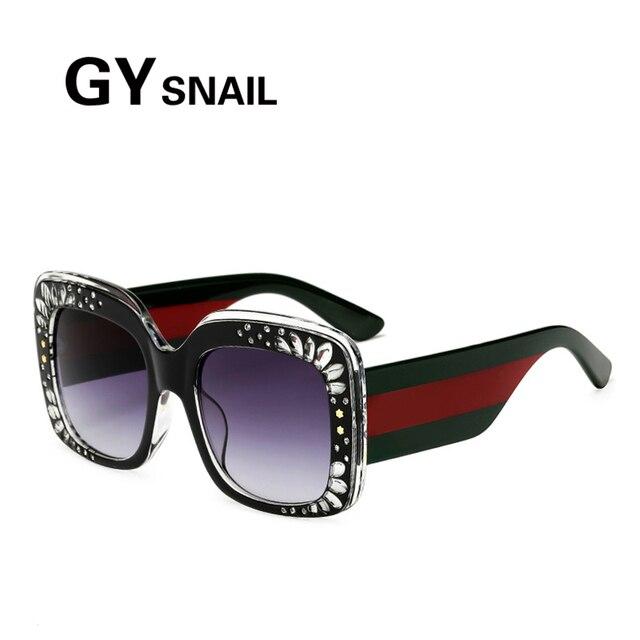 GY CARACOL Enormes óculos de Sol quadrados mulheres Óculos De Sol femininos  moda feminina óculos de 9ef36c0c5c