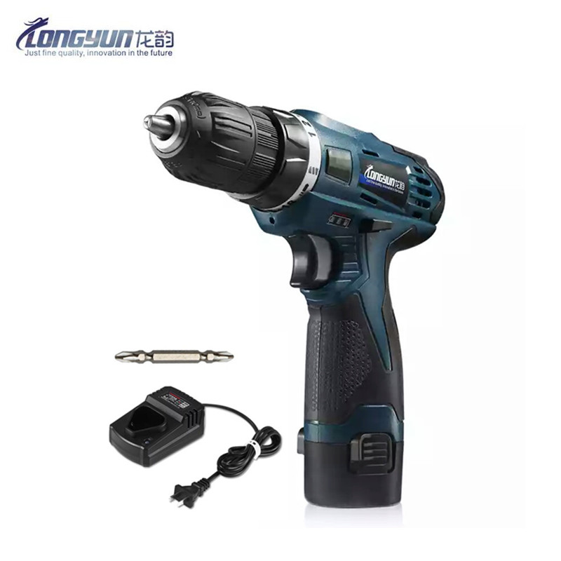 12V Two Speed Rechargeable Lithium Battery Hand Electrical Drill Charger Cordless Driver Mini Electric Screwdriver Power Tools
