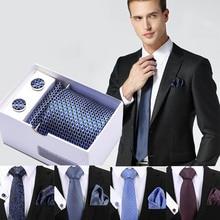 New Plaid men ties set Extra Long Size 145cm*8cm Necktie Pink Paisley Silk Jacquard Woven Neck Tie Suit Wedding Party