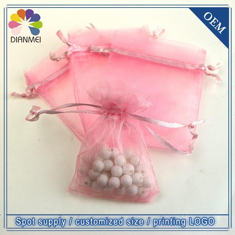 лидер продаж 100 шт./лот 7х9 см прекрасный розовый маленький porch органза упаковка сумки продвижение подарки чехлы Prime индивидуальные чаевые печать