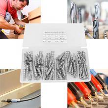 100Pcs Self Tapping Screws Zinc Alloy Drilling Drywall Hollow-Wall Anchors tornillos para madera