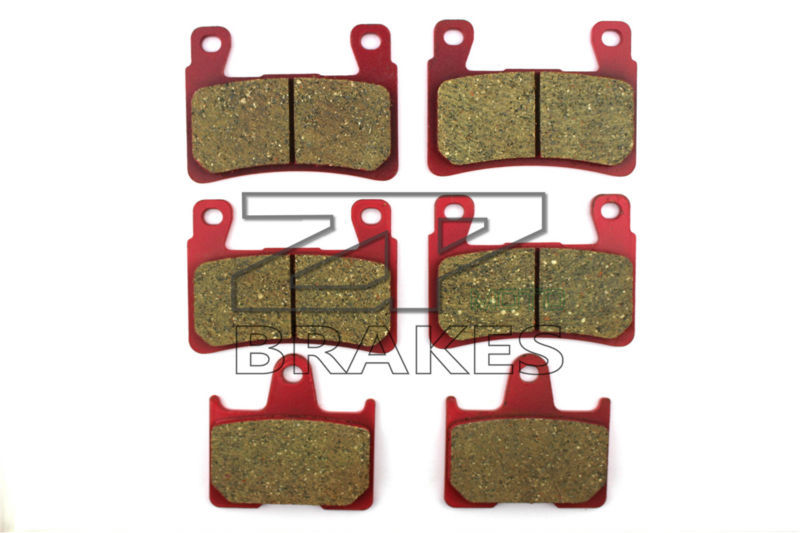 Ceramic Brake Pads For CB 400 SFX/SFY/SF1/SF2/SF3 Super Four NC39 1999-2003 Front + Rear OEM New High Quality ZPMOTO 1999 2000 arctic cat 250 2x4 kevlar carbon front brake pads