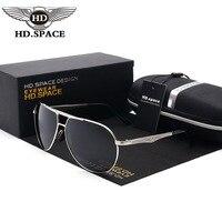 HD גבר עיצוב ייחודי אופנה משקפי שמש מקוטבת Gafas אל Mg זכר נהיגה משקפיים Eyewear פיילוט צפרדע המשטרה Oculos דה סול LD024