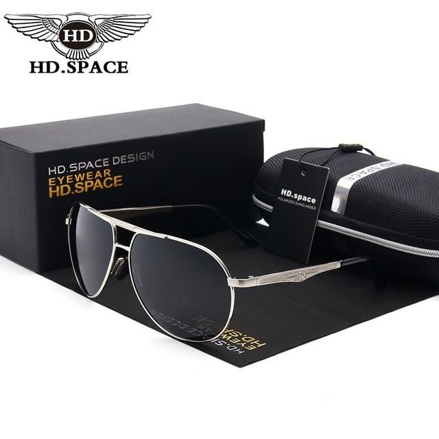 206b6053df5b2e HD Ontwerp Man Mode Gepolariseerde Zonnebril Al Mg Gafas Unieke mannelijke Rijden  Bril Politie Eyewear Pilot