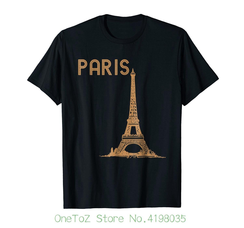 Paris France Eiffel Tower Graphic T Shirt Good Quality Brand Cotton Shirt Summer Style Cool Shirts