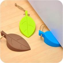 ETya 1 шт. милый мультфильм силиконовый лист стиль двери стоппер держатель силиконовые листья дверной стоп безопасности для детей детские украшения дома