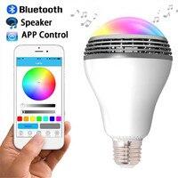 E27 12V Wireless Buletooth Music Player Round LED Light Bulb Potable Dimmable Audio Speaker Via Phone