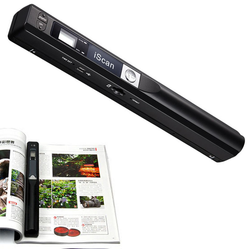 Handheld Portable A4 Book Document Photo Scanner 300DPI
