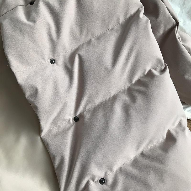 Coréenne Hiver 2018 Parkas Col Vers Nouvelle Outwears Manteaux Le Coton as Beige Chaud Picture Casual noir Vestes Bas Femmes Long Épaississement Montant nwvvFxWfqC
