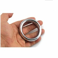 Baile Stainless Steel Cock Ring Fetish Bondage Ring Male Device Kit Cock Cage St