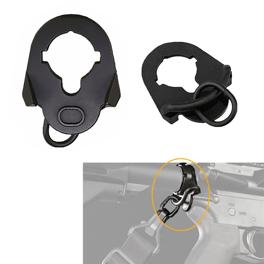 Tactical Adapter Metal Mount Airsoft AR15 M4/16 AEG End Plate Sling Hunting Accessories|Scope Mounts & Accessories| - AliExpress