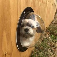 2019 New Acrylic Pet Dog Fence Window Cats Dogs Peek Bubble Durable Dome Window
