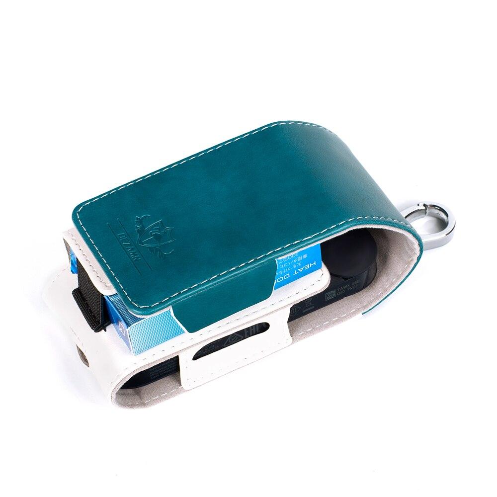 For IQOS Case Flip Leather Electronic Cigarette Accessories Storage Box Elegant Flamingo Logo Clip On Fashion E-Cigarette Cover