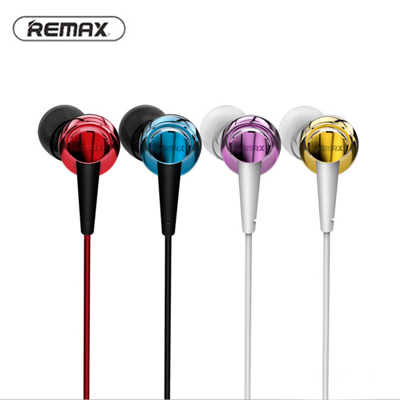 Remax RM-575 Microphone Line-Control Pure Music Earphone Support iPhones Ipad Smart mobile phone High Performance Stereo Headset remax rm 610d base driven high performance stereo earphone with microphone and in line control rm 610d
