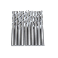 10 Pcs Set 1 8 17mm Carbide CNC Double Two Flute Spiral Bits Milling Cutter Free