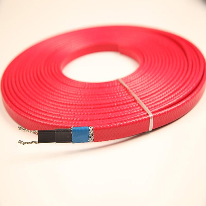 Нагревательный кабель 230V 12MM 25 Вт/м 65 C с экранированием экрана и может использоваться внутри водопровода и канализации