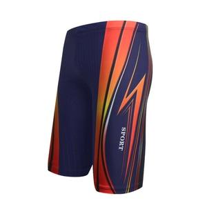 Плавки для мальчиков, водонепроницаемые быстросохнущие купальные костюмы, мужские длинные купальные трусы-боксеры для дайвинга, пляжные шорты
