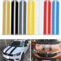 Universal 130 cm x 24 cm Riscado Adesivos Tampa Do Motor Capô Do Carro Styling Faixa Reflexiva Decalque do Vinil DIY Decoração PVC