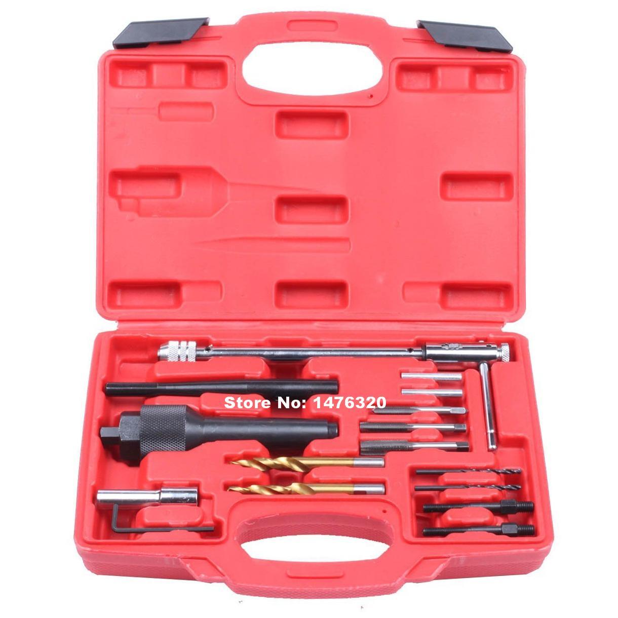 8mm 10mm outils de réparation de retrait de bougie de préchauffage endommagé outils de Garage de réparation automatique avec 1/4 M8 M10 robinet AT2031