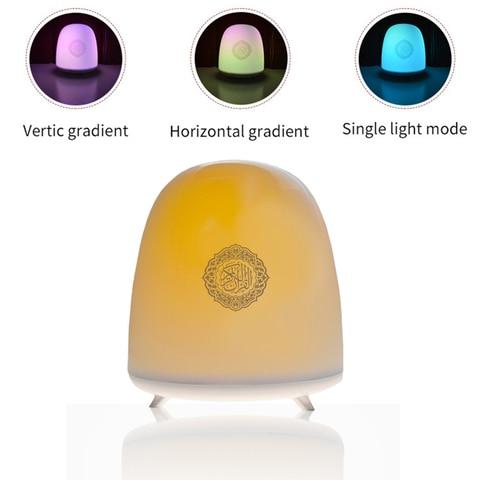 quran toque lampada sem fio bluetooth speaker controle remoto colorido luz conduzida da noite muculmano