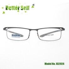 XX2024 Better Self Eyewear Stainless Steel Spectacles TR90 Soft Temple Eyeglasses Quality Reading Glasses Men