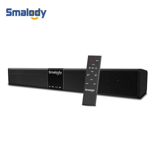 Smalody 20W Subwoofer Soundbar Bluetooth Bass Wireless Speaker 4400Mah Portable With Remote Control LCD Display Home Theater TV