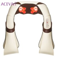 ACEVIVI Multifunction Infrared U Shape Body Health Care Equipment Car Home Acupuncture Kneading Neck Shoulder Cellulite