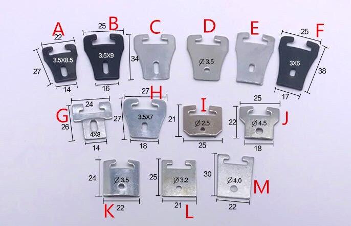 Fabricação preto pó revestido molas de metal prendedor clip para downlight