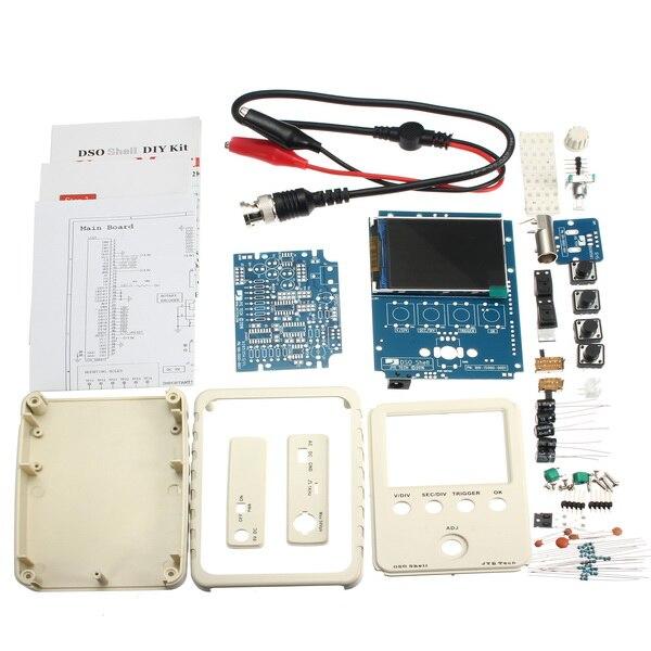 DSO-SHELL dso150 15002k kit osciloscópio digital diy smd unsoldered com placa do módulo de habitação