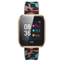 Military Sports Smart   Watch   Men Women Fitness Heart Rate Monitor Touch Screen Bluetooth Intelligent Rubber Band Smart Bracelet