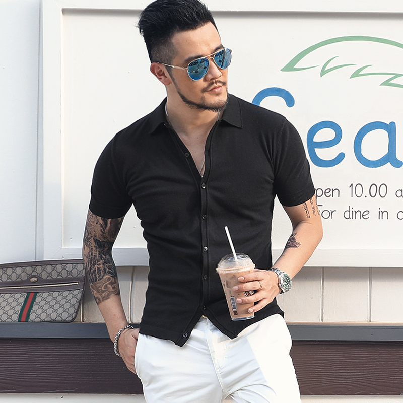 2019 New Fashion Brand Sweater Man Cardigan Vest Slim Fit Jumpers Knitwear Solid Color Summer Korean Style Casual J806