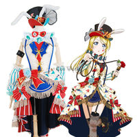 Love Live School Idol Project Ayase Eli Circus Fancy Dress Uniform Outfit Anime Cosplay Costumes