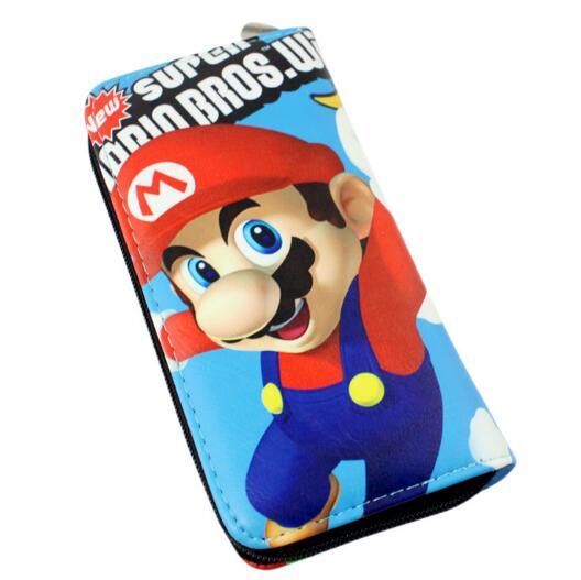 Новый кожаный кошелек длинный мешок с принтами с Super Mario Bros будет сумка на молнии