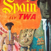 Vintage Fly TWA World Travel España Retro póster lienzo pintura DIY pared papel carteles hogar Decoración regalo