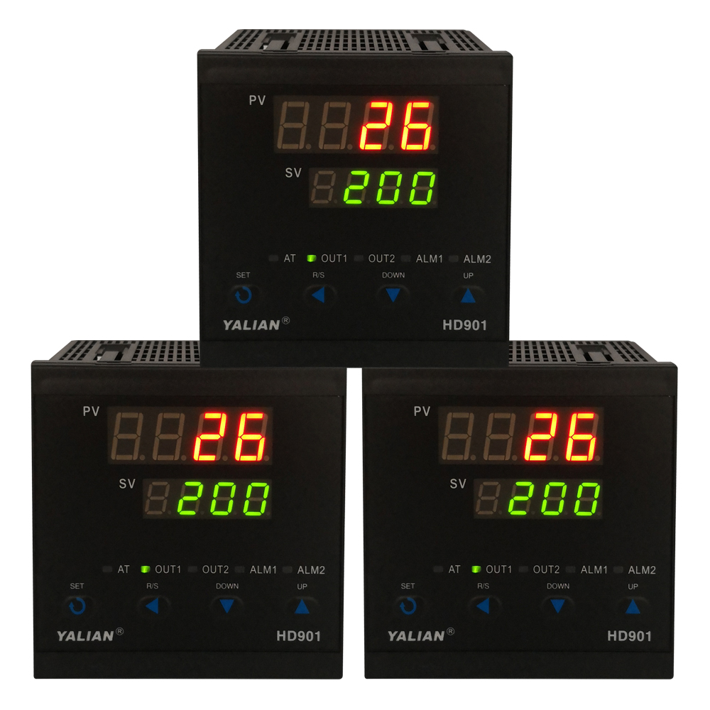 new promotion intelligent pid temperature controller with two lines display and alarm for metallurgy textile plastics oven etc