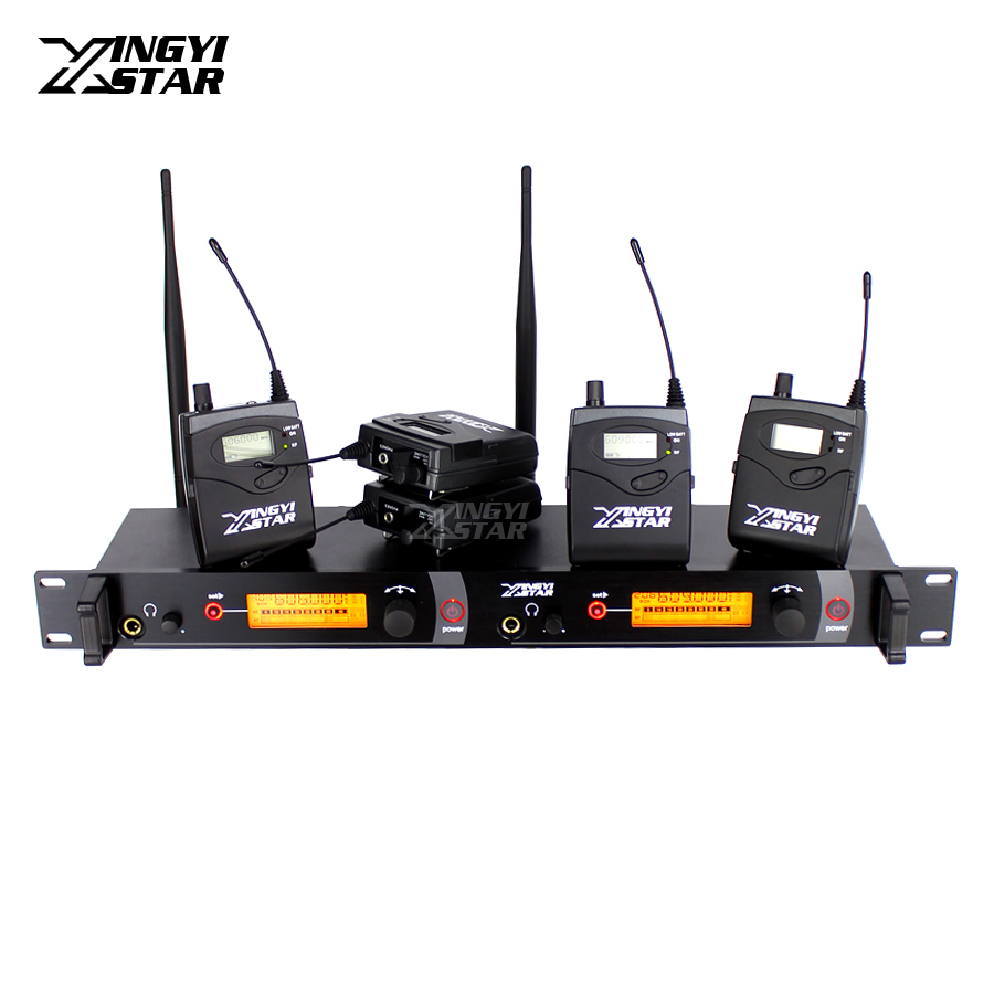 SR2050 Wireless In Ear Monitor Professional Stage Monitoring System 5 Bodypack Receiver With 1 Transmitter Monitors in Headphone wireless pager system 433 92mhz wireless restaurant table buzzer with monitor and watch receiver 3 display 42 call button