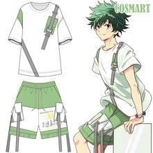 Аниме «Boku no MY HERO Academy izku Midoriya», костюм для косплея, футболка/штаны, летняя футболка, повседневная одежда, унисекс, новинка