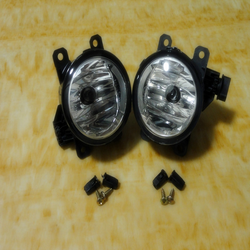 цена на 1Pair Clear Front Bumper Fog Lamps Fog Driving Lights With Bulbs For Mitsubishi Pajero NS NT NW 2006-2014