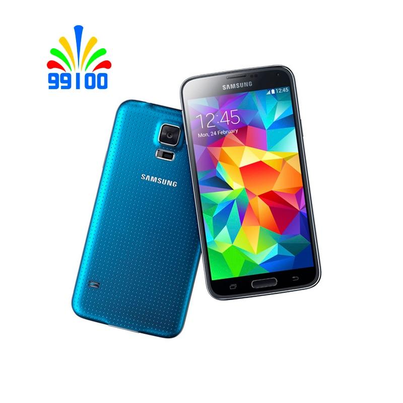 Восстановленный разблокированный сотовый телефон Samsung Galaxy S5 G900F/P/V/A 5,1 дюйма LTE WCDMA 2 ГБ + 16 Гб 16 МП камера четырехъядерный процессор сканер отп...