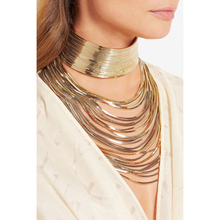 JUJIA Luxury metal chain choker Maxi Statement Necklace 2017 Multilayer Wedding chokers Collier Fashion jewelry