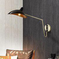 Industrial style wall lamp folding telescopic long arm robotic arm reading bedside lamp Nordic style wall lamp 220v/110v